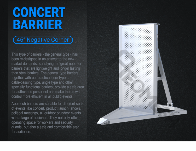 AEOBARRIER 45 negative corner Concert Barrier